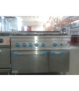 Cucina 6 fuochi MBM con forno