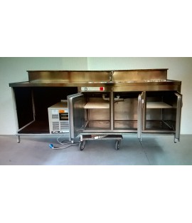 Retrobase refrigerato cm250x68