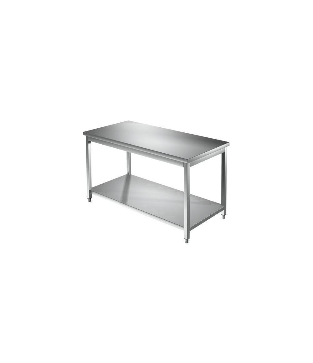 accessori cucina professionali. Tavolo acciaio inox cm. 140x70x85h.