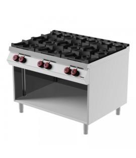 Cucina 6 fuochi marca Desco